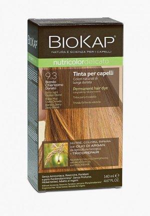 Краска для волос Biokap очень светлый золотой 9.3, 140 мл. Цвет: коричневый