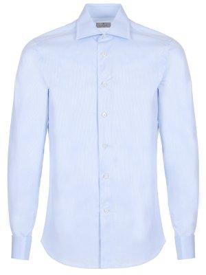 Хлопковая рубашка под запонки CANALI