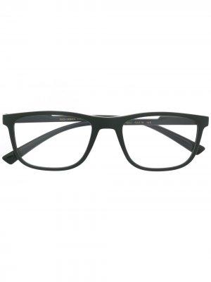 Очки в прямоугольной оправе Dolce & Gabbana Eyewear. Цвет: зеленый