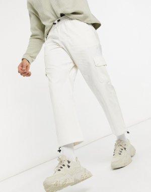Кремовые брюки в утилитарном стиле -Белый Hi-Tec
