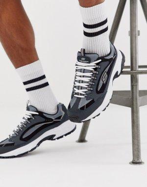 Серо-синие кроссовки на массивной подошве Stamina Cutback-Серый Skechers