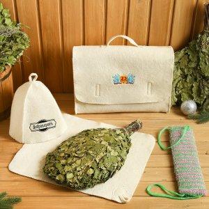 Набор банный портфель 5 предметов Добропаровъ