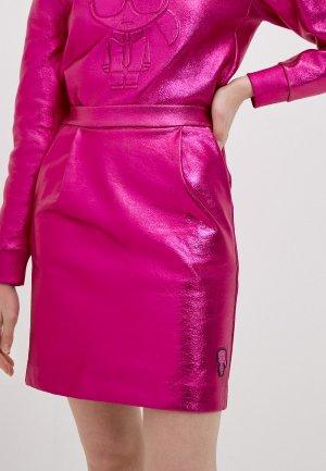 Юбка Karl Lagerfeld. Цвет: розовый