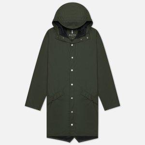 Мужская куртка дождевик Long Jacket Rains. Цвет: зелёный