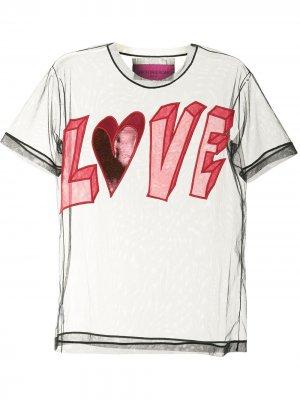 Блузка Love с вышивкой Viktor & Rolf. Цвет: черный