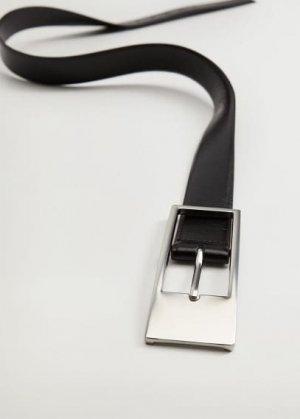 Ремень с металлической пряжкой - Grecia Mango. Цвет: черный