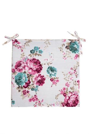 Сидушка декоративная 40х40 PIKAMO. Цвет: белый, розовый, бирюзовый
