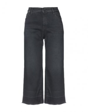 Джинсовые брюки-капри REPLAY. Цвет: черный