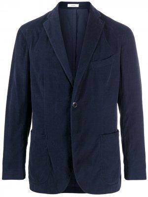 Вельветовый пиджак K-Jacket узкого кроя Boglioli. Цвет: синий