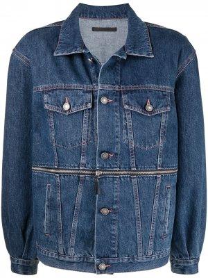 Джинсовая куртка на пуговицах Made in Tomboy. Цвет: синий