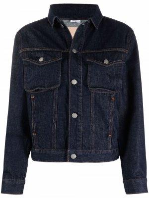 Джинсовая куртка с накладными карманами CK Calvin Klein. Цвет: синий