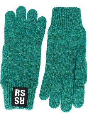 Перчатки Raf Simons. Цвет: зелёный