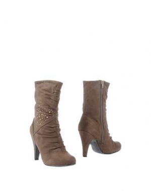 Полусапоги и высокие ботинки ANNA FIELD. Цвет: хаки