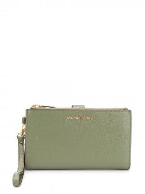 Double zip wallet Michael Kors. Цвет: зеленый