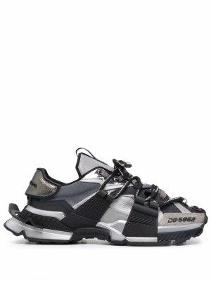 Кроссовки на шнуровке Dolce & Gabbana. Цвет: черный
