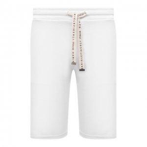 Хлопковые шорты Daniele Fiesoli. Цвет: белый