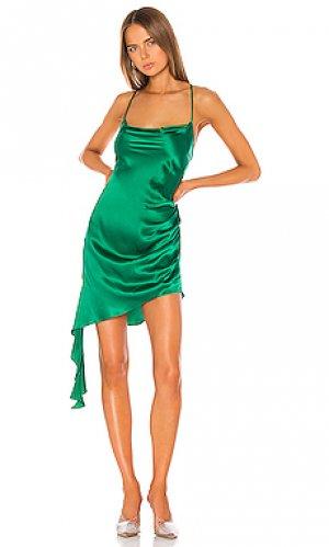 Мини платье violetta Amanda Uprichard. Цвет: зеленый