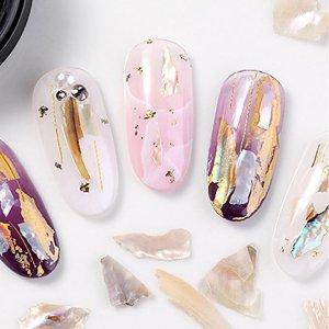 1 коробка блестящая заплата ногтей SHEIN. Цвет: белые