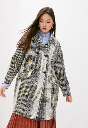 Пальто Patrizia Pepe. Цвет: серый