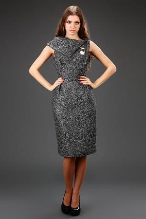 Платье Bill Blass. Цвет: серый