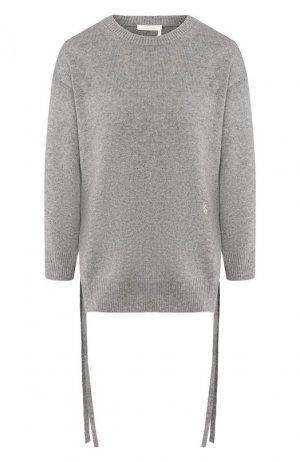 Кашемировый пуловер Chloé. Цвет: серый