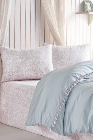 Комплект постельного белья, евро Cotton box. Цвет: голубой
