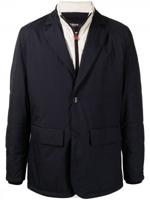 Стеганый пиджак Kiton. Цвет: синий
