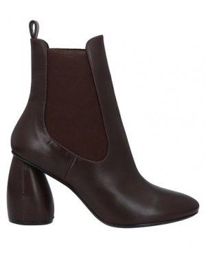 Полусапоги и высокие ботинки CARVEN. Цвет: темно-коричневый