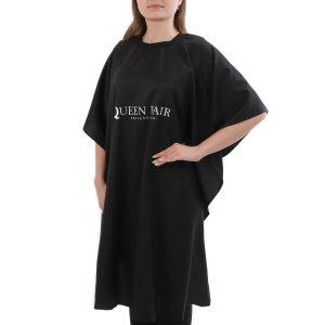 Пеньюар парикмахерский, 103 × 148 см, цвет чёрный Queen fair