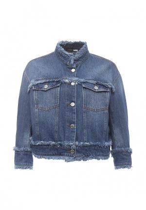 Куртка джинсовая Sportmax Code SP027EWORF33. Цвет: синий