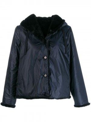 Водонепроницаемая куртка с капюшоном Aspesi. Цвет: синий
