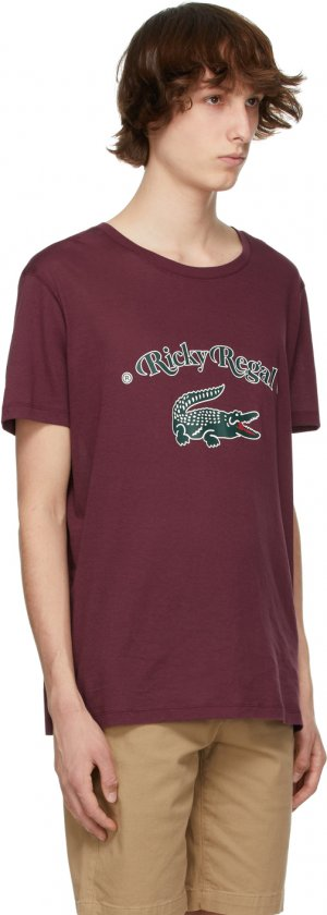 Burgundy Ricky Regal Edition Loose Neck T-Shirt Lacoste. Цвет: 4sn