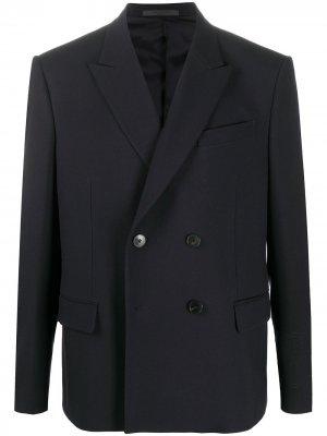 Двубортный пиджак Valentino. Цвет: черный