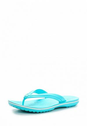Сланцы Crocs. Цвет: голубой