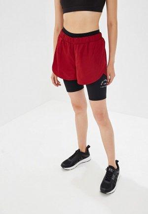 Шорты спортивные Karl Lagerfeld. Цвет: бордовый