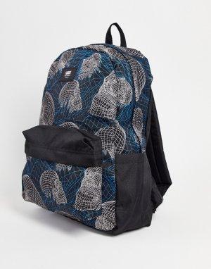 Черный рюкзак Old Skool IIII Wireframe Skull-Черный цвет Vans