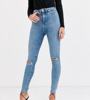 Синие рваные джинсы скинни -Синий New Look Tall
