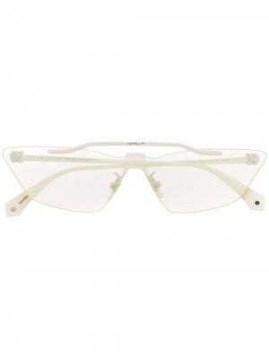 Солнцезащитные очки Metal Mask Off-White. Цвет: белый