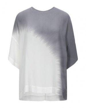 Блузка 8PM. Цвет: свинцово-серый