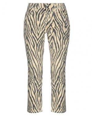 Джинсовые брюки-капри CURRENT/ELLIOTT. Цвет: бежевый