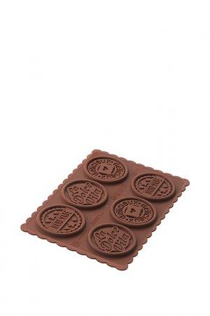 Набор д/приготовления печенья Silikomart. Цвет: коричневый