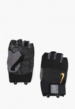 Перчатки для фитнеса Nike MENS LOCK DOWN TRAINING GLOVES. Цвет: черный