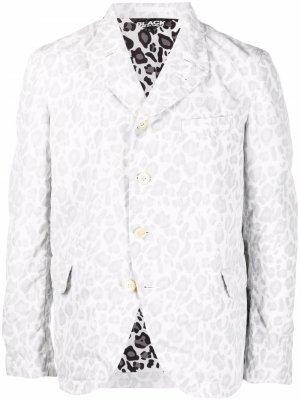 Пиджак с леопардовым принтом Black Comme Des Garçons. Цвет: белый