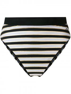 Полосатые плавки-бикини Tommy Hilfiger. Цвет: черный