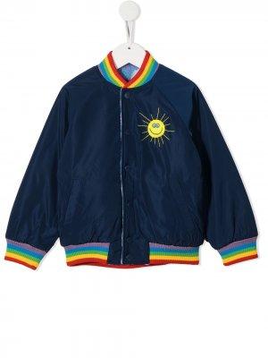Бомбер с вышивкой Stella McCartney Kids. Цвет: синий