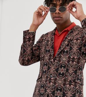 Приталенный пиджак с гобеленовым узором -Мульти Heart & Dagger