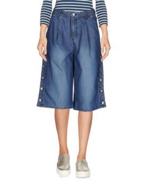 Джинсовые брюки-капри SJYP. Цвет: синий