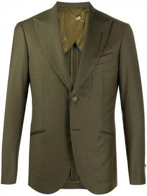 Однобортный пиджак Maurizio Miri. Цвет: зеленый