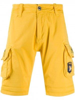 Шорты с боковыми карманами Alpha Industries. Цвет: желтый