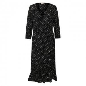 Платье из вискозы By Malene Birger. Цвет: чёрный